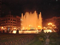 Plaza del Ayuntamiento at night
