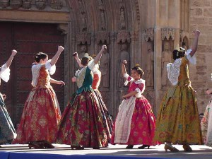 Traditional dancing in Valencia