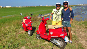 Discovery of the City & Albufera National Park on a Vespa